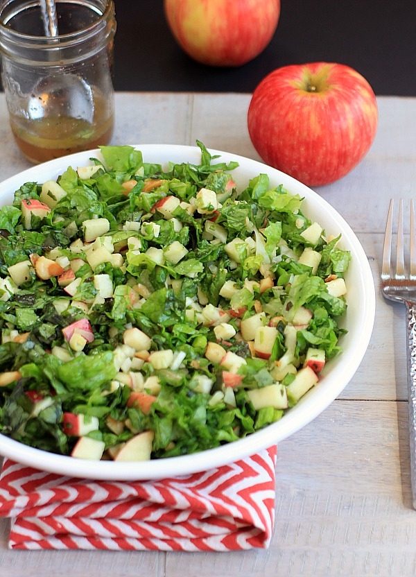 Autumn Salad with Apple Maple Dressing