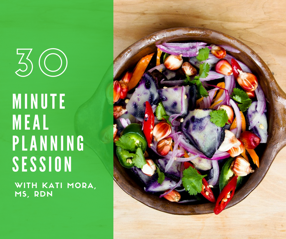 30 Minute Meal Planning Session