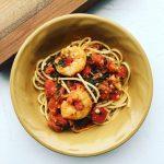 Shrimp Tomato and Spinach Pasta
