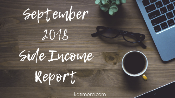 Side Income Report September 2018